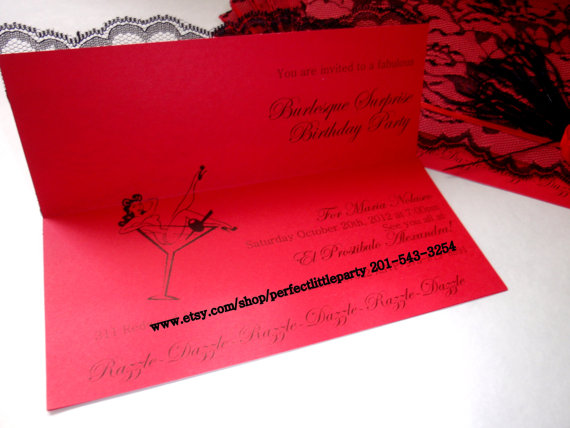 Cabaret invitation, my perfect little party