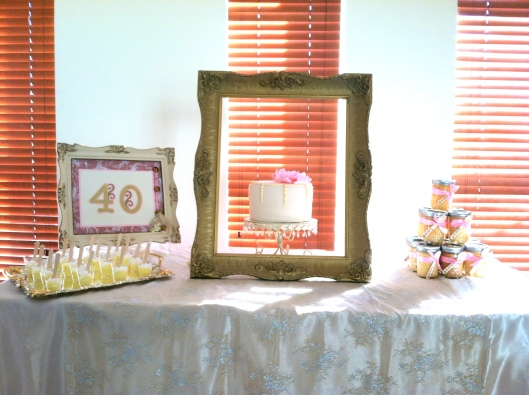 shabby dessert table