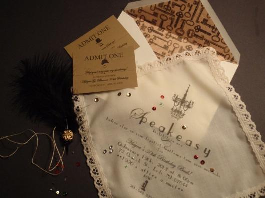 Prohibition Era Invitation