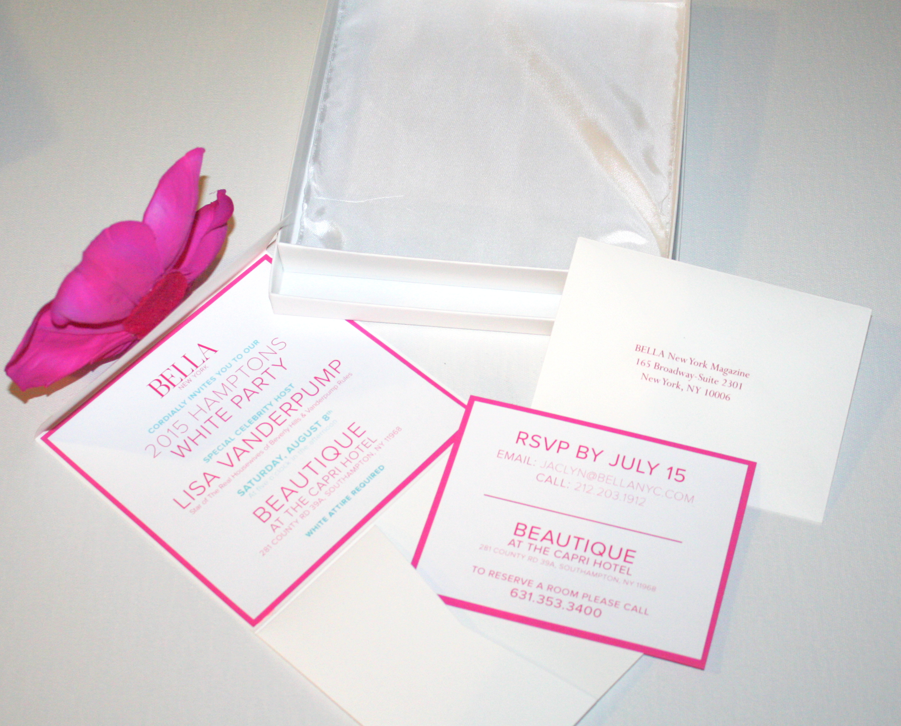 The Making of BELLA\'s White Party Invitations – D&E Papel